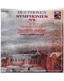 """BEETHOVEN - SYMPHONIES N°8 & N°9 """"HYMNE A LA JOIE"""" (CARLO-MARIA GIULINI)"""